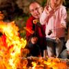 Schweizer Familie Feuerstellen